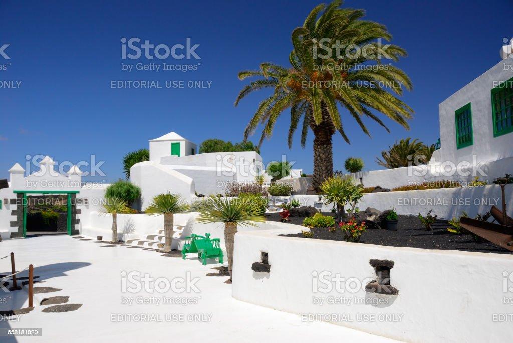 Spanish courtyard stock photo