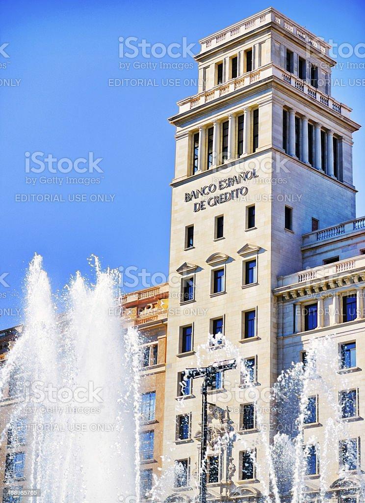Spanish Credit Bank, Placa de Catalunya, Barcelona royalty-free stock photo
