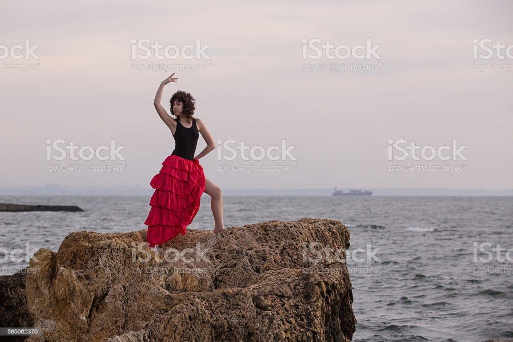 Spanish dance royalty-free stock photo