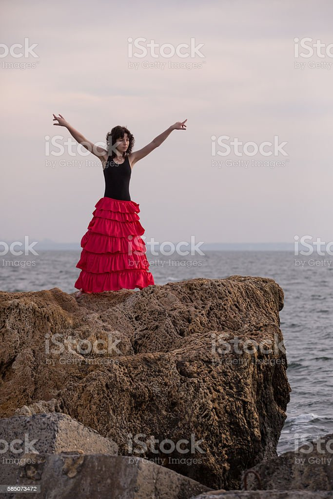 Spanish dance royalty-free stock photo