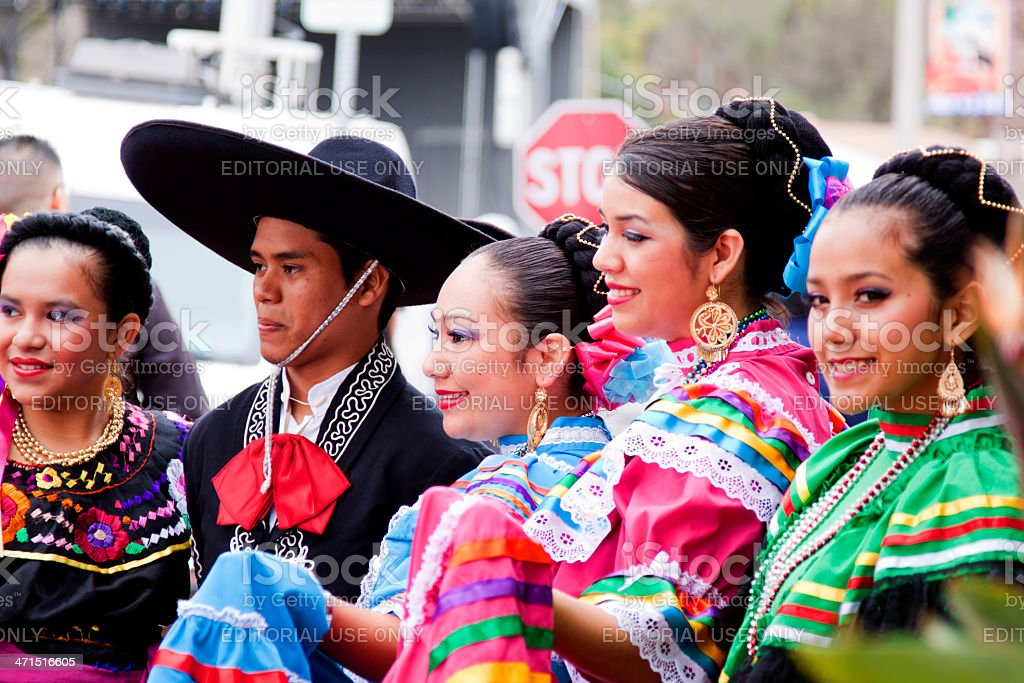Spanish Dancers Posing for the Crowd stock photo