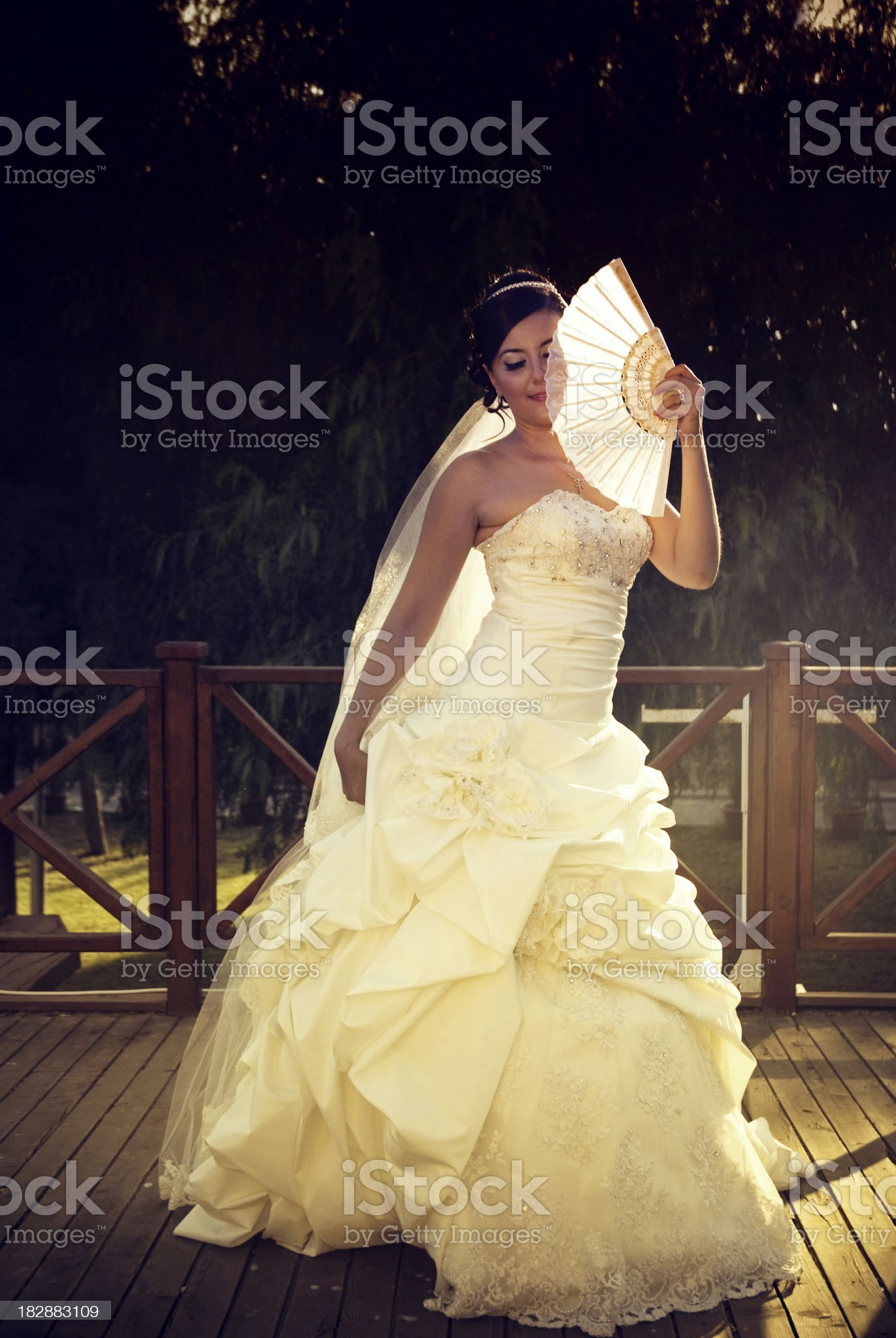 Spanish dancing of beautiful bride royalty-free stock photo