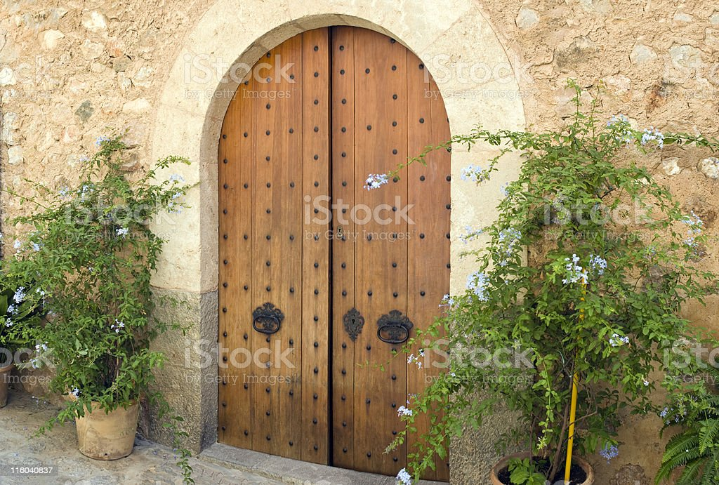 Spanish door. royalty-free stock photo