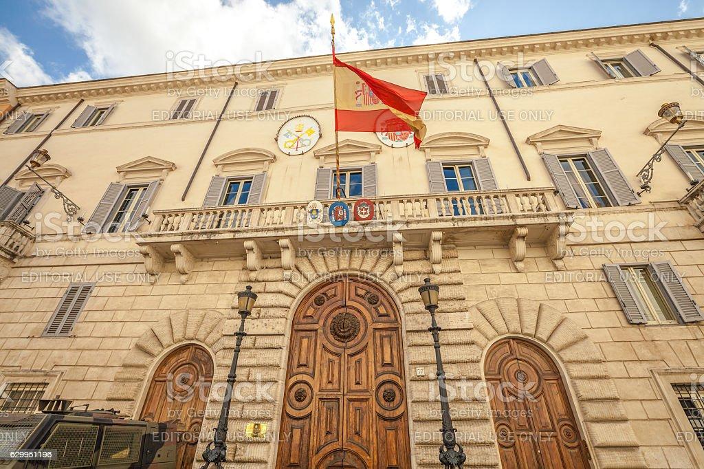 Spanish Embassy Rome stock photo