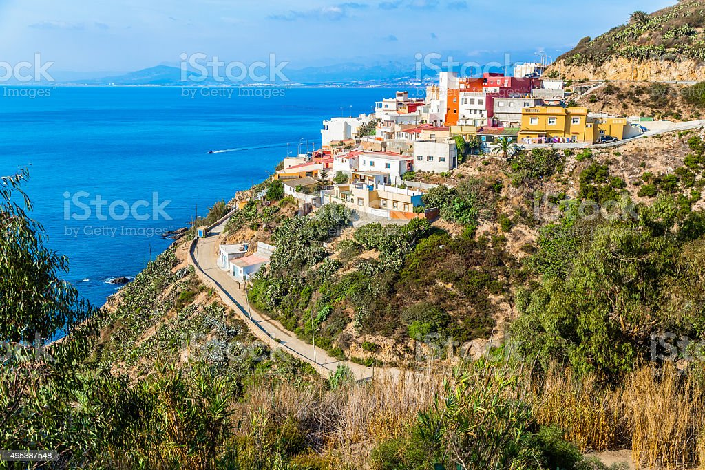 Spanish Enclave in Africa stock photo
