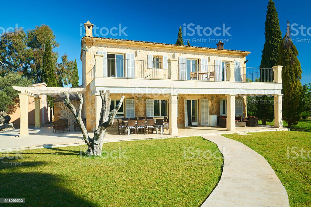 spanish finca stock photo