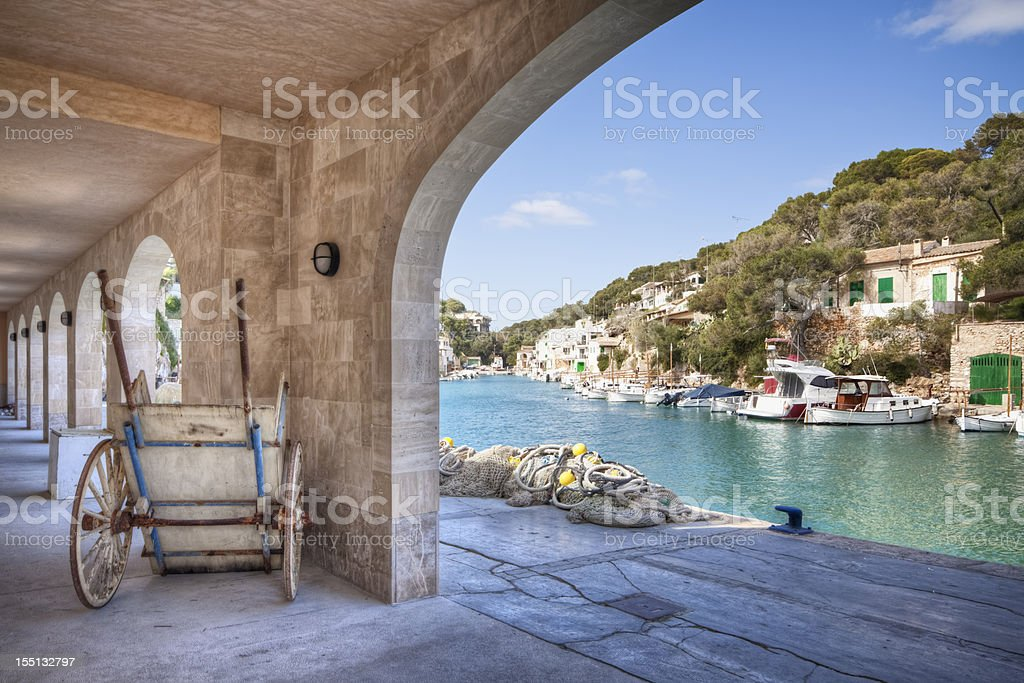Spanish Fishing Village stock photo