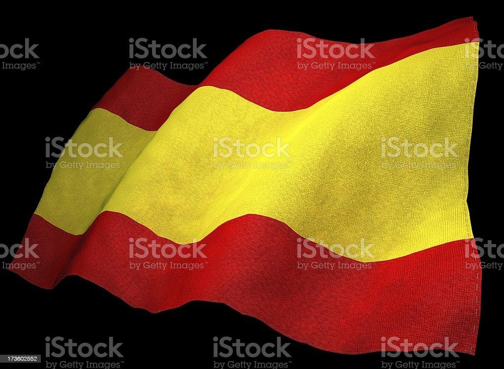 3D Spanish Flag royalty-free stock photo