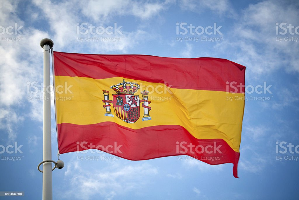 Spanish Flag royalty-free stock photo