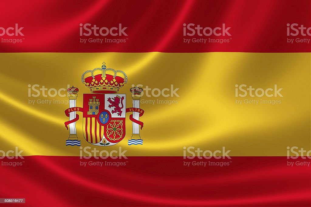 Spanish Flag stock photo