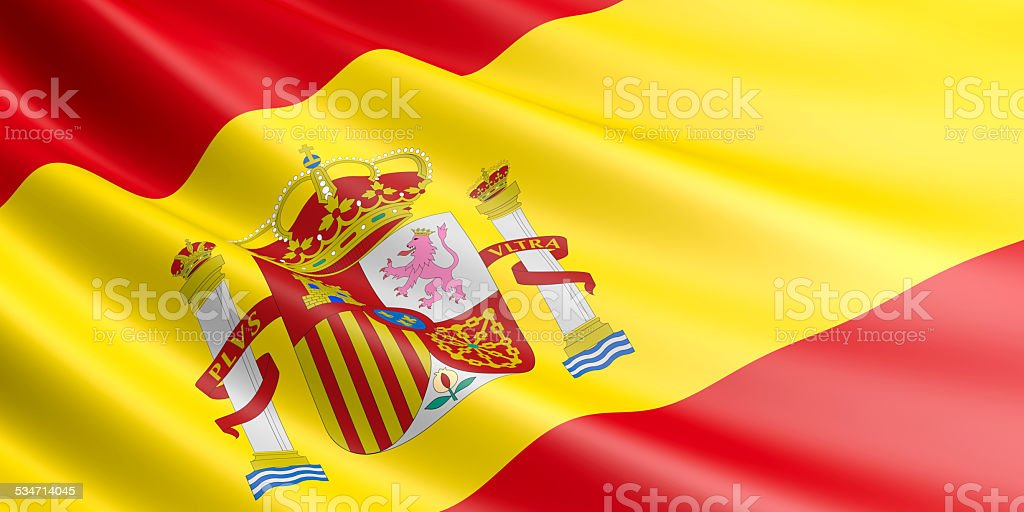Spanish flag. royalty-free stock vector art