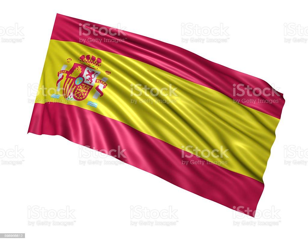 Spanish Flag stock photo