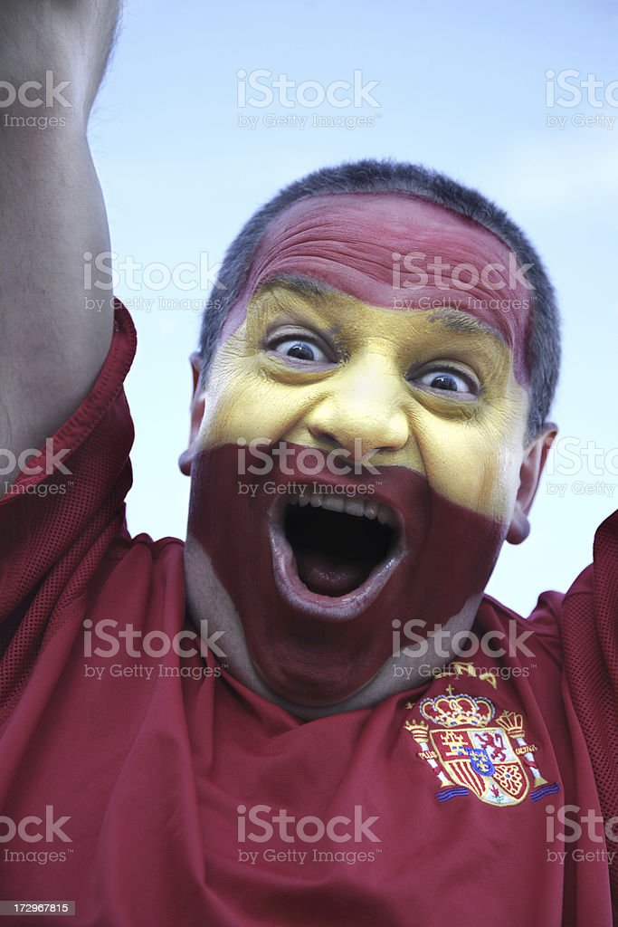 Spanish Football Supporter royalty-free stock photo