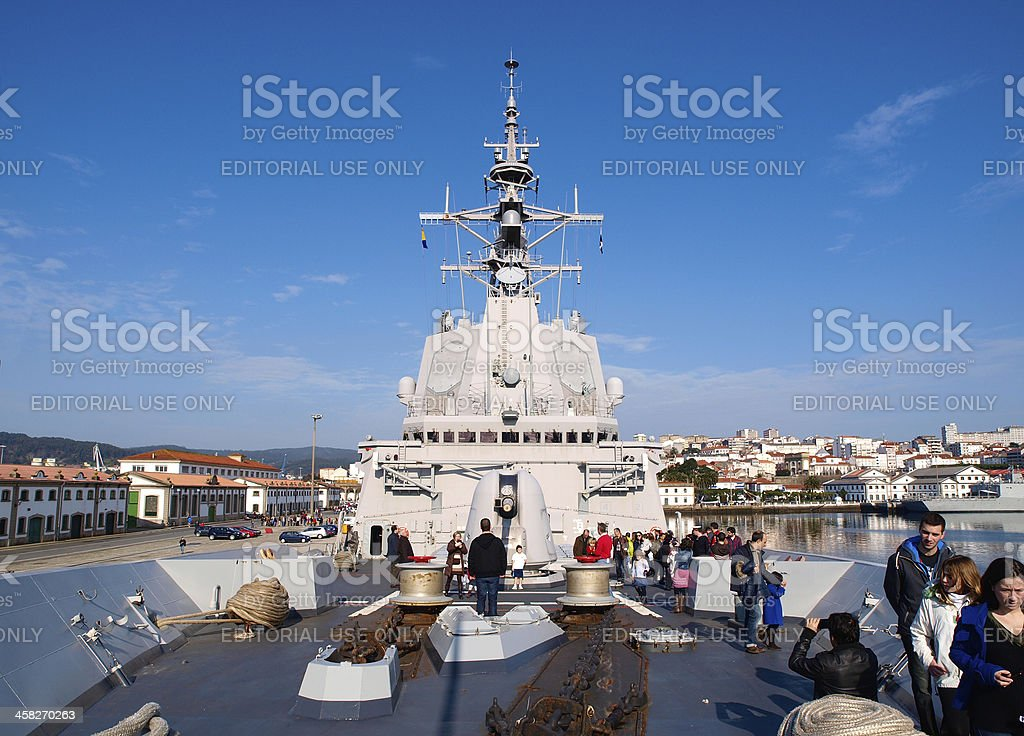 Spanish frigate F-101 'Alvaro de Bazan'. stock photo
