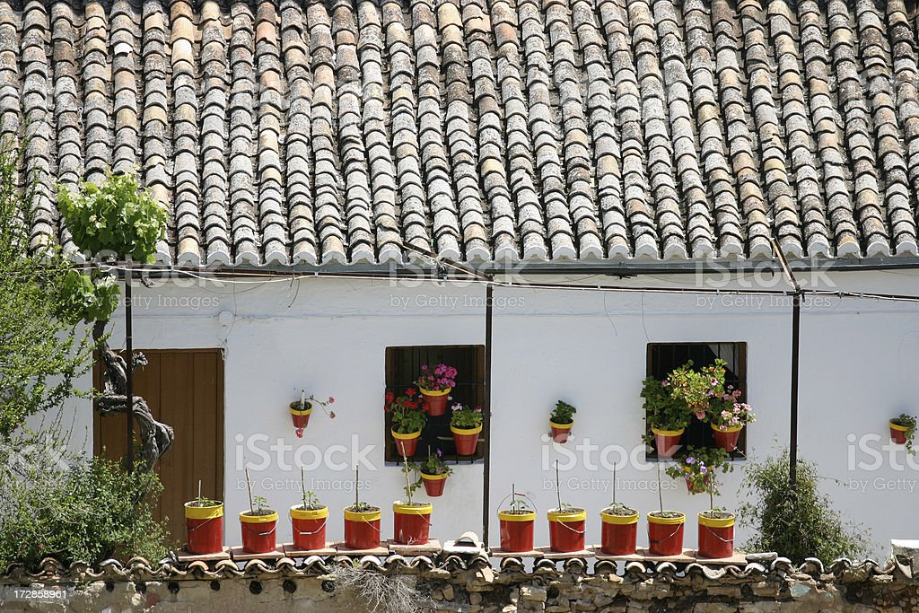 Spanish Garden stock photo
