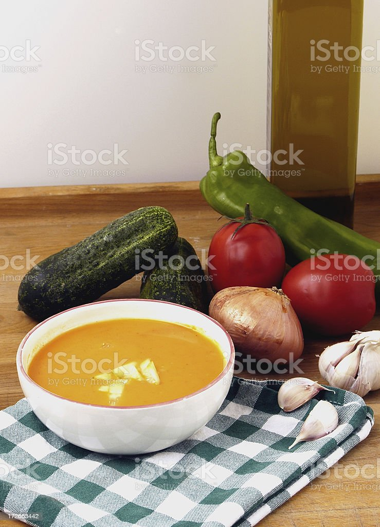 Spanish Gazpacho royalty-free stock photo