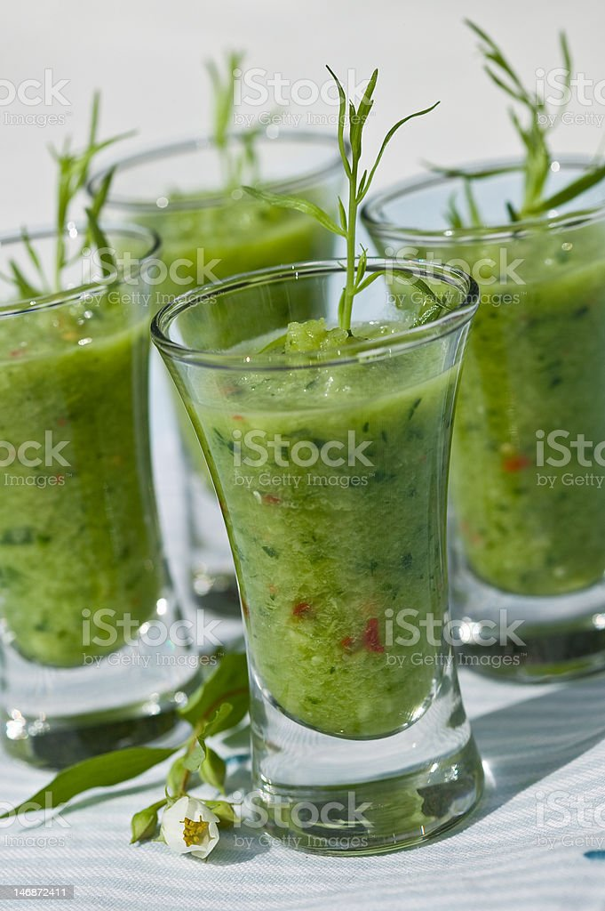 Spanish gazpacho soup royalty-free stock photo