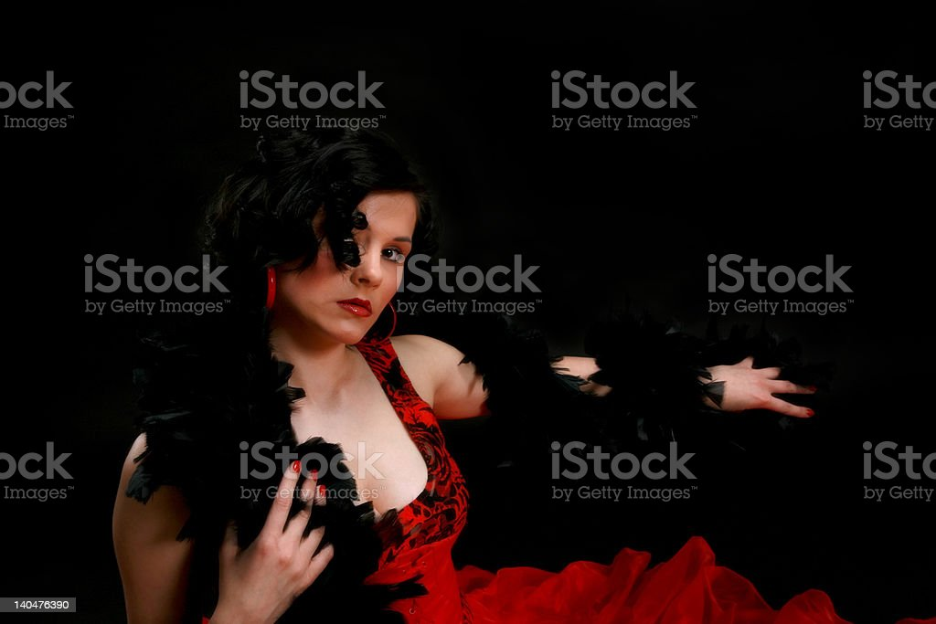Spanish girl with boa royalty-free stock photo