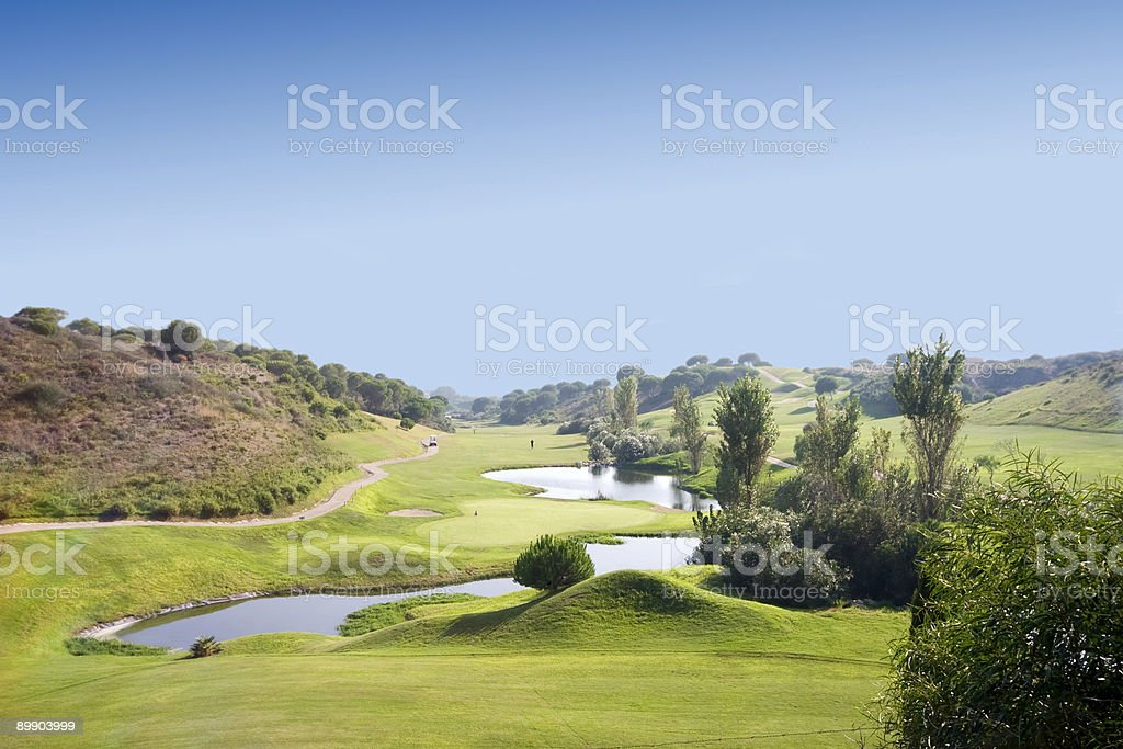 Spanish Golf Course stock photo