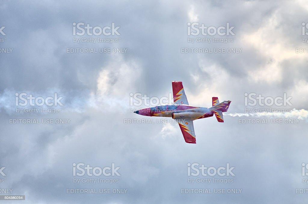 Spanish group 'Patrulla Aguila' on Radom Airshow, Poland stock photo