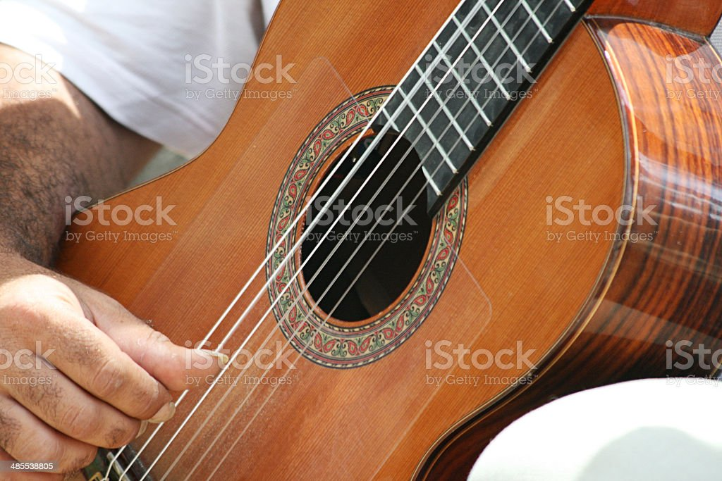 Spanish Guitarist stock photo