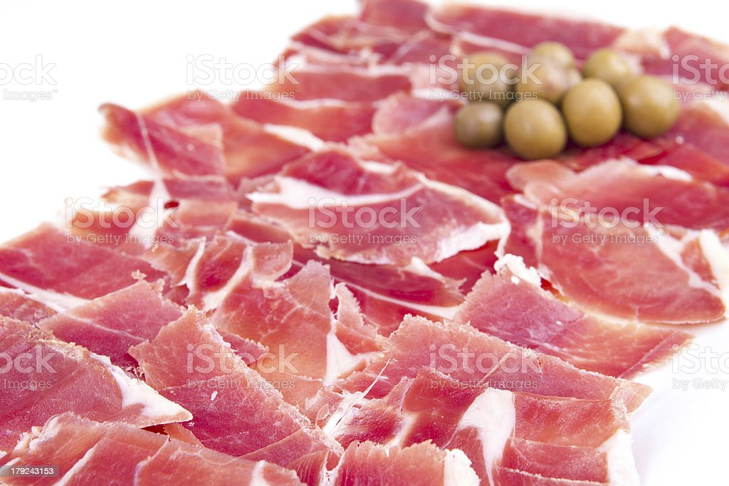 Spanish ham royalty-free stock photo