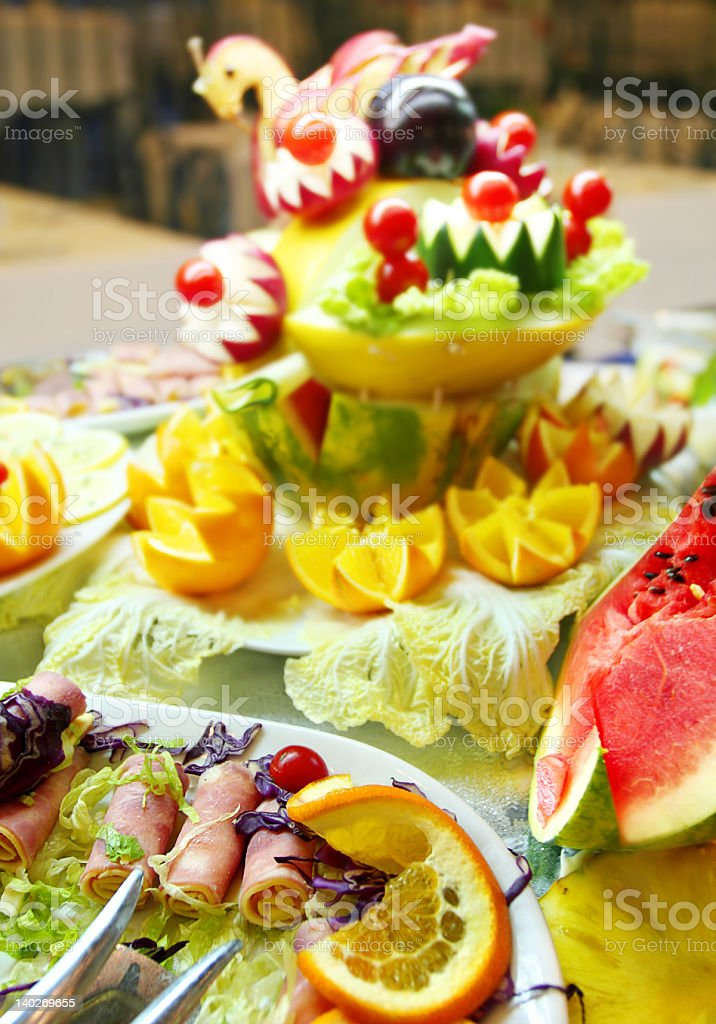 Spanish Ham Salad Buffet royalty-free stock photo