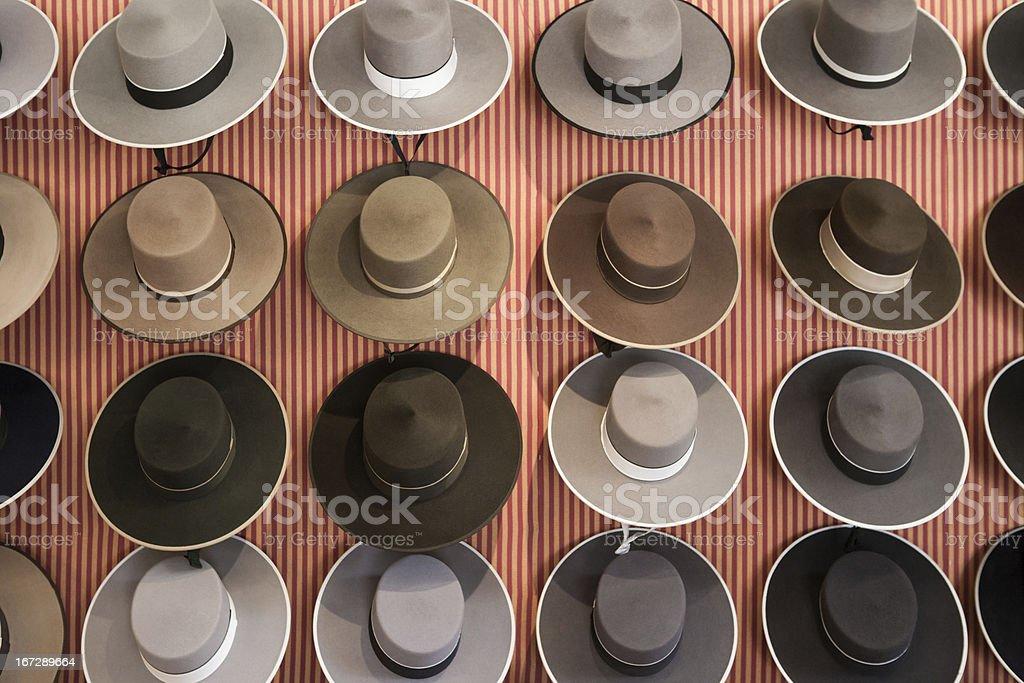 Spanish hats stock photo
