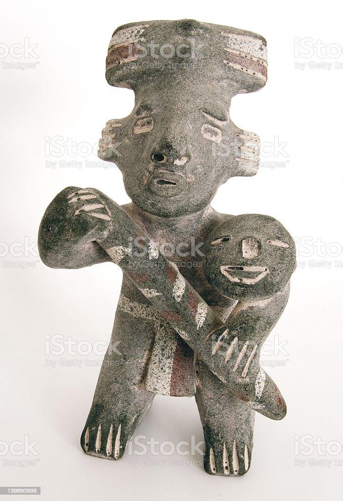 spanish inca stone statuette royalty-free stock photo