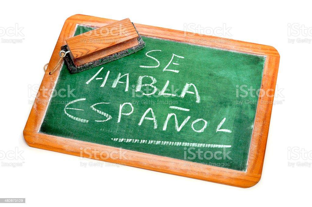Spanish is spoken royalty-free stock photo