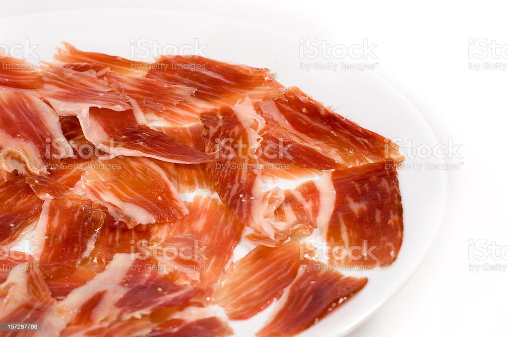 Spanish Jabugo Jamon stock photo