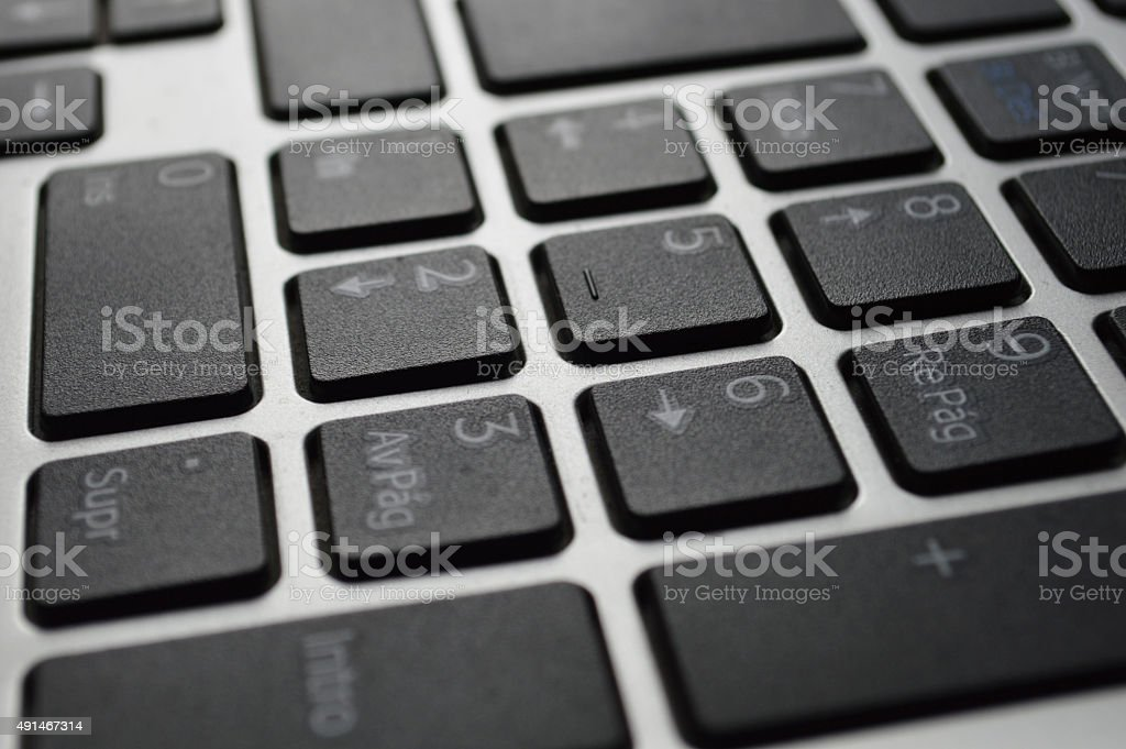 Spanish keyboard stock photo