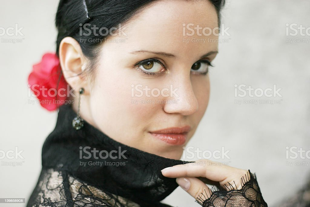 spanish lady II royalty-free stock photo