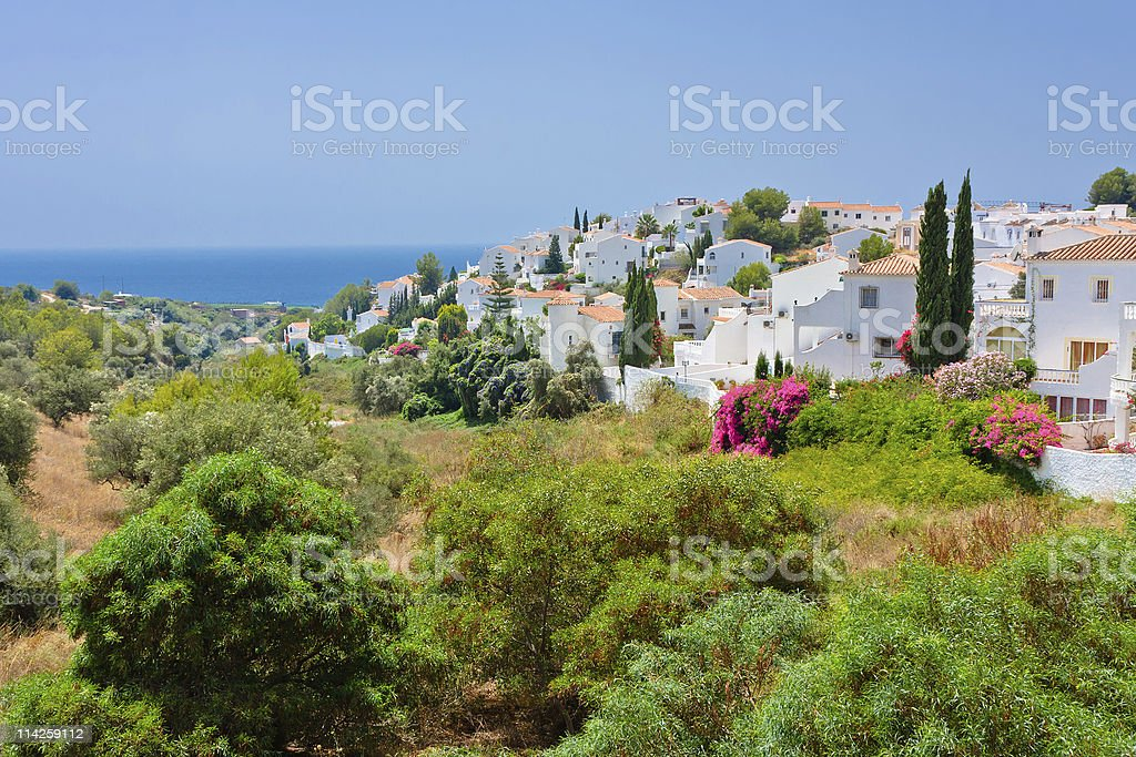 Spanish landscape stock photo