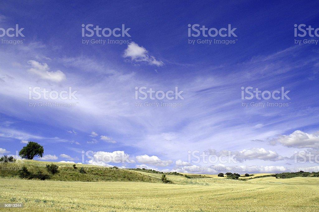Spanish landscape royalty-free stock photo