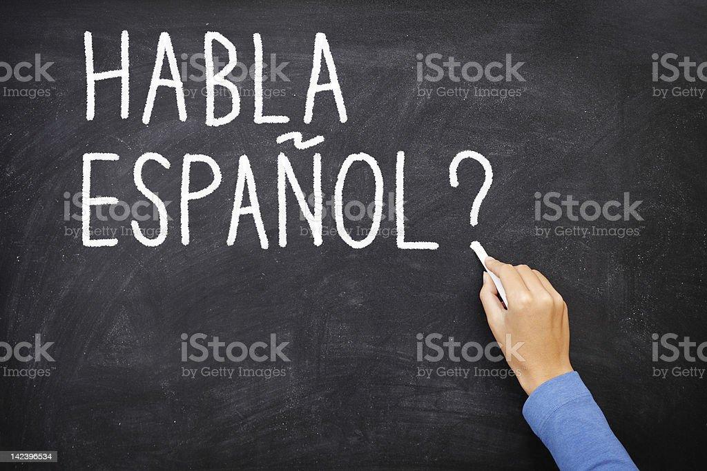 Spanish Learning language royalty-free stock photo