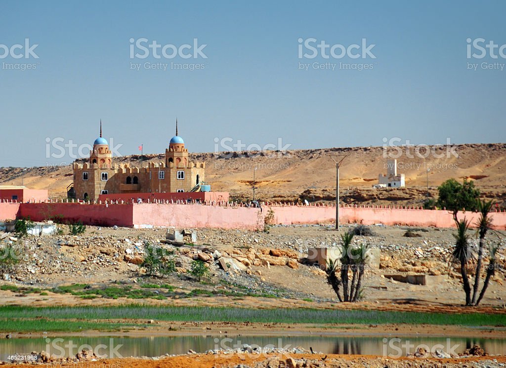 Spanish Legion barracks, El Aaiun, Western Sahara stock photo