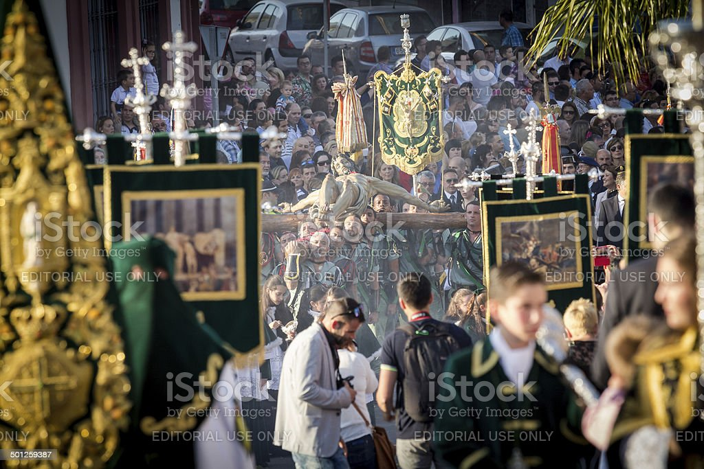 Spanish Legionnaires Marching stock photo