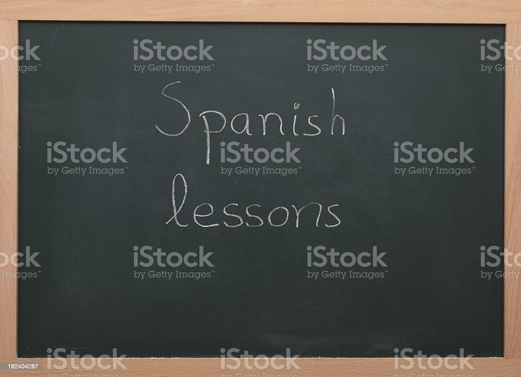 Spanish lessons royalty-free stock photo