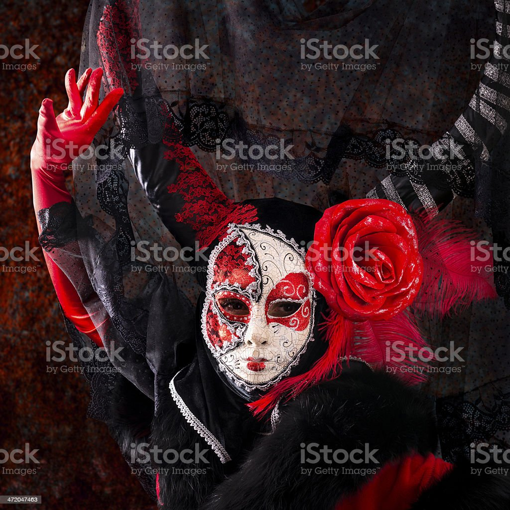 Spanish Masked Woman royalty-free stock photo