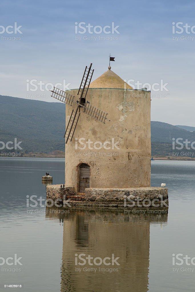 Spanish mill stock photo