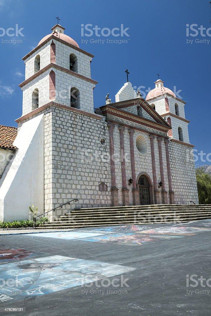 Spanish Mission in Santa Barbara royalty-free stock photo