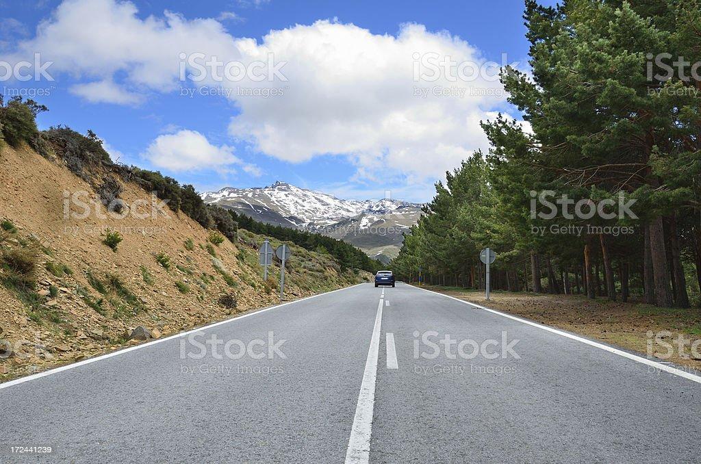 Spanish mountain road royalty-free stock photo