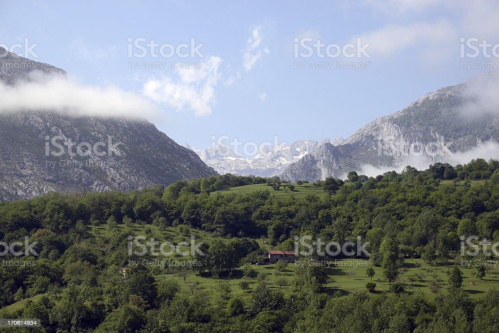 Spanish mountains stock photo