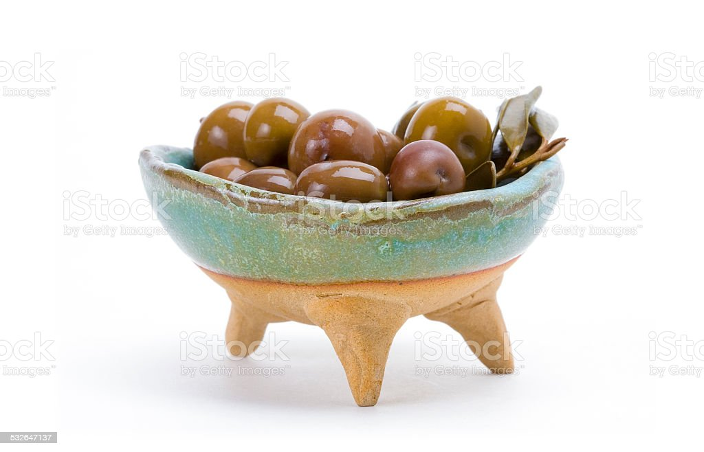 Spanish olives stock photo