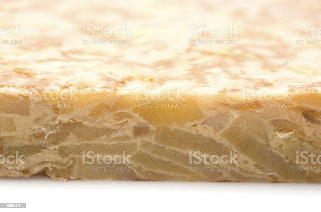 Spanish Omelet Close up stock photo