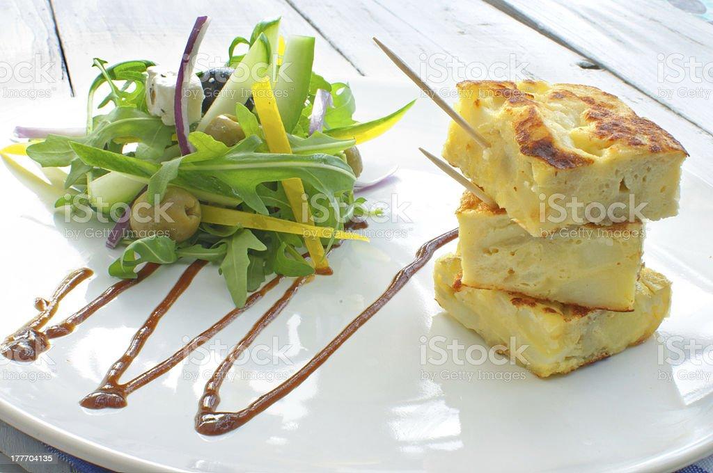 Spanish omelette royalty-free stock photo
