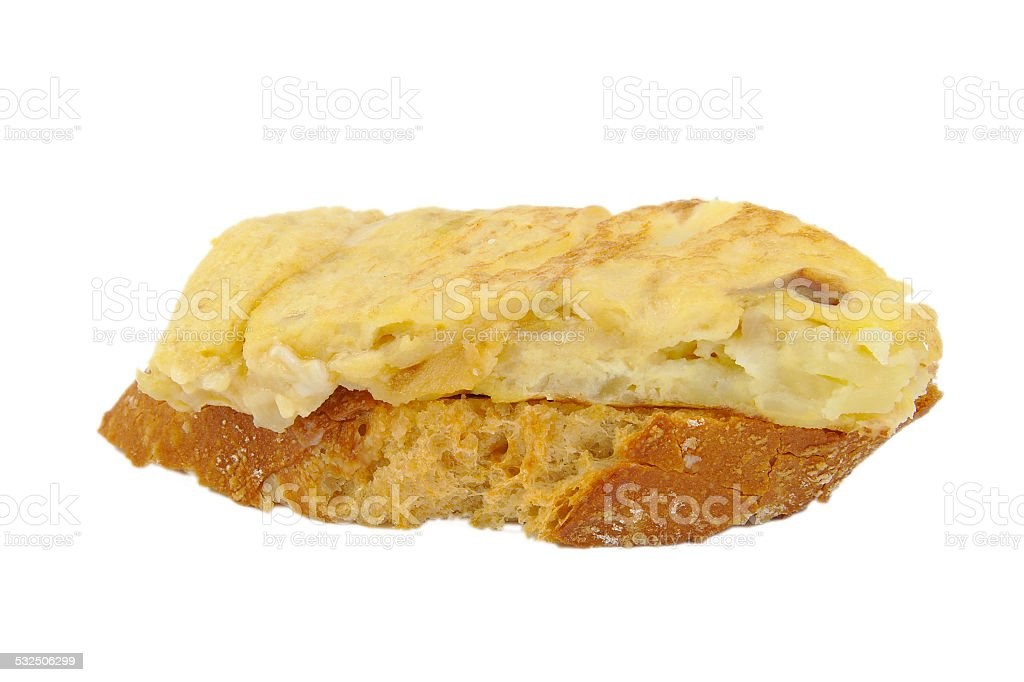Spanish omelette stock photo