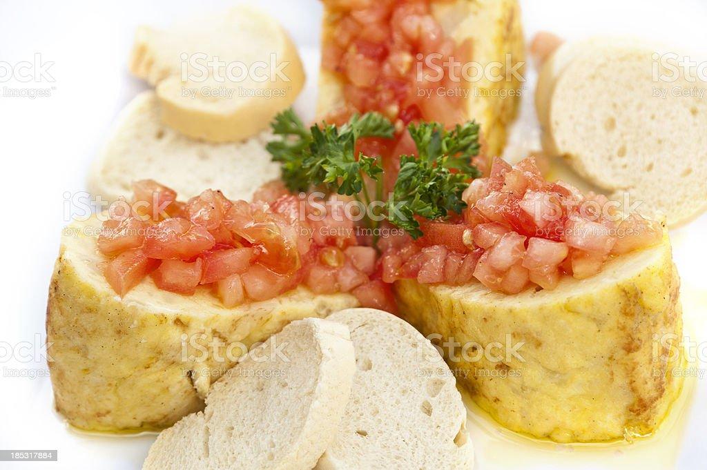 Spanish Omelette Tapa stock photo