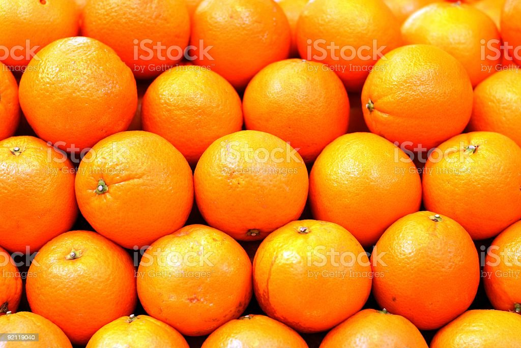 Spanish Oranges from Valencia royalty-free stock photo